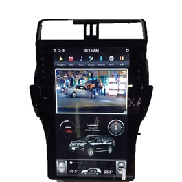Toyota Prado LCD Multimedia System Android GPS Tesla Style - Model 2018