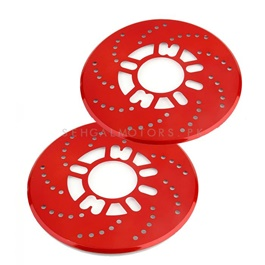 Disc Rotary Plate Cover Red | Brake Disc Rotors-SehgalMotors.Pk