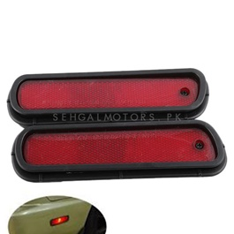 JDM Style Bumper Rear Marker Lamps Red Color-SehgalMotors.Pk