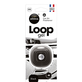 Aroma Car Air Freshener Car Perfume Fragrance Loop Gel Black-SehgalMotors.Pk