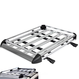 Universal Roof Rack Carrier Silver XL Size	-SehgalMotors.Pk