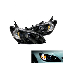 Honda Civic Headlight Projection Black - Model 2004-2006-SehgalMotors.Pk