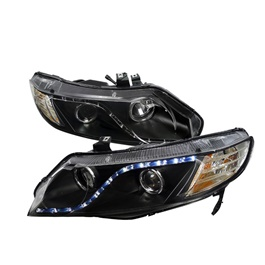 Honda Civic Headlight Projection Black V3 - Model 2006-2012	-SehgalMotors.Pk