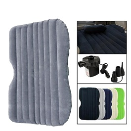 Car Back Seat Air Mattress Portable Air Bed Grey | Inflatable Backseat Bed-SehgalMotors.Pk