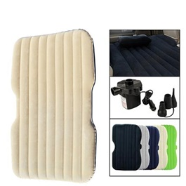 Car Back Seat Air Mattress Portable Air Bed Beige | Inflatable Backseat	Bed-SehgalMotors.Pk