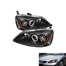 Honda Civic Headlight Projection Black Taiwan - Model 2004-2006-SehgalMotors.Pk