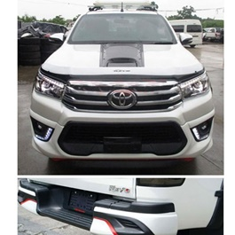 Toyota Hilux Revo Front and Back Extender With Led - Model 2016-2018	-SehgalMotors.Pk