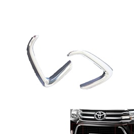 Toyota Hilux Revo Chrome Decorative Down grille Trim - Model 2016-2019	-SehgalMotors.Pk