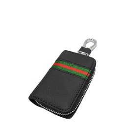 Universal Zipper Leather Key Cover Black Style A Pouch-SehgalMotors.Pk