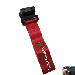 Monster Strap Tow Hook - Red-SehgalMotors.Pk