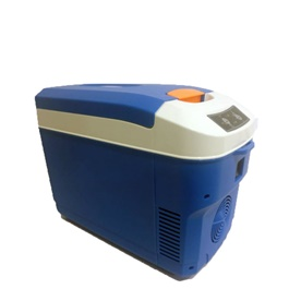 Portable Car Cool Box Fridge Blue 12 Liters 49W- Code 14365-SehgalMotors.Pk
