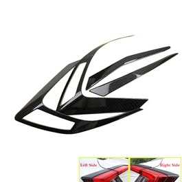 Honda Civic Carbon Fiber Style Tail Light Trim - Model 2016-2019-SehgalMotors.Pk