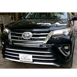Toyota Fortuner Zigma Style Body Kit Thailand 2 Pieces Black Version 1- Model 2017 - 2018 -SehgalMotors.Pk