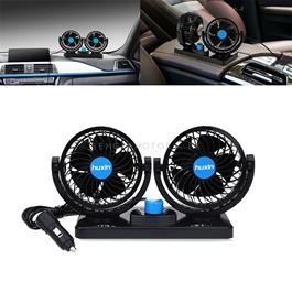 Rotatable Dual Speed Car Electric Fan | Car Double Fan for Dashboard | Universal Dual Fan 12v 2 Speed-SehgalMotors.Pk