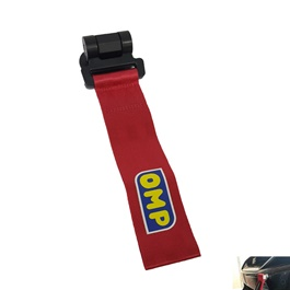 OMP Strap Tow Hook - Red-SehgalMotors.Pk