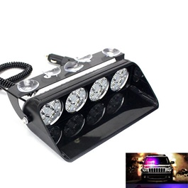 High Power 4 LED Police Light for Dashboard-SehgalMotors.Pk