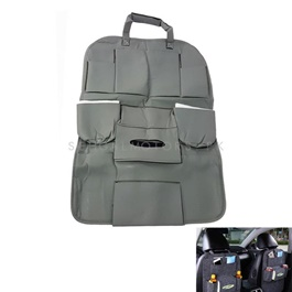 Back Seat Organizer in Leather Grey-SehgalMotors.Pk