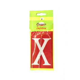 X card perfume hanging red-SehgalMotors.Pk
