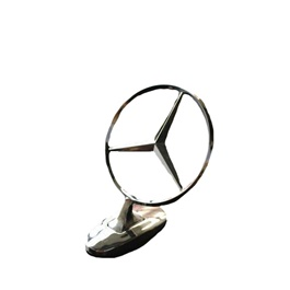 Mercedes Hood Emblem Chrome Genuine Type With double tape Fitting on Bonnet-SehgalMotors.Pk
