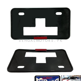 License Number Plate Frame with Reflector - Pair-SehgalMotors.Pk