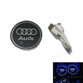 Audi RGB LED Car Cup Holder - 1 piece-SehgalMotors.Pk