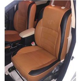 Japanese Rexine Extra Foaming Seat Covers Orange and Black-SehgalMotors.Pk
