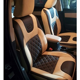Toyota Corolla Seat Covers Beige And Black-SehgalMotors.Pk