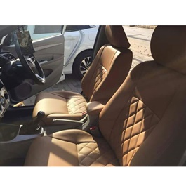 Japanese Rexine Extra Foaming Seat Covers Beige Style A-SehgalMotors.Pk