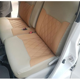 Japanese Leather Type Rexine Seat Covers Beige With Mustard Style-SehgalMotors.Pk