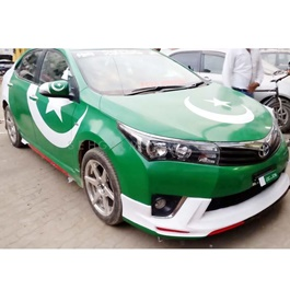 Pakistan Flag Vinyl Wrap For Crossover 	-SehgalMotors.Pk