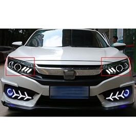 Honda Civic Mustang Style Headlights / Head Lamps - Model 2016-2020-SehgalMotors.Pk