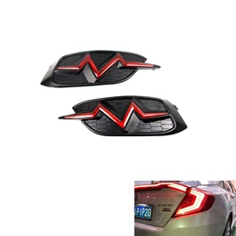 Honda Civic Back Bumper Light Heartbeat Style Red - Model 2016-2019-SehgalMotors.Pk