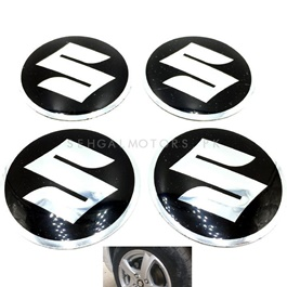 Suzuki Wheel Cap Logo Black - 4 Pieces