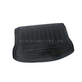 Toyota Aqua 5D Trunk Mat - Model 2012-2019 | Trunk Boot Liner | Cargo Mat Floor Tray | Trunk Protection Mat | Trunk Tray Cover Pad-SehgalMotors.Pk