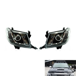 Toyota Hilux Vigo Angel Eye Headlight - Model 2005-2016-SehgalMotors.Pk