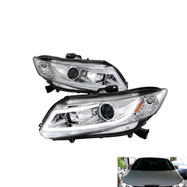 Honda Civic Spec-D Led Projection Headlight White - Model 2012-2016-SehgalMotors.Pk