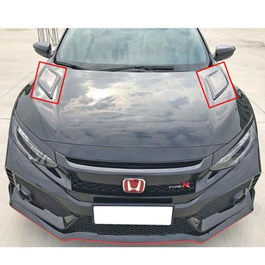 Honda Civic GT Hood Air Flow Pair - Model 2016-2020-SehgalMotors.Pk