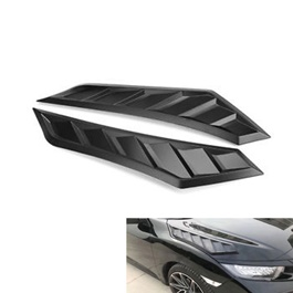 Honda Civic 3D Hood Air Flow Vent Pair - Model 2016-2019-SehgalMotors.Pk