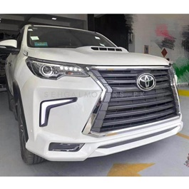 Toyota Fortuner LX570 Lexus Style NKS Body Kit / Bodykit V1 White 4 Pcs - Model 2016-2021-SehgalMotors.Pk