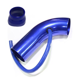 Cold Air Intake Pipe Small Blue | Car Racing Air Intake Filter | Universal Car Automobile Racing Air Intake Filter | Car Cold Air Intake Aluminum Pipe Air filter Induction Pipe-SehgalMotors.Pk