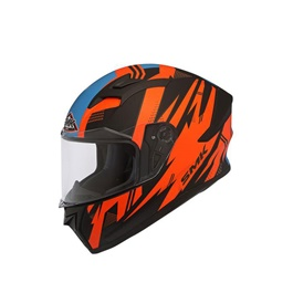 SMK Flash Vision Glide Helmet Orange-SehgalMotors.Pk