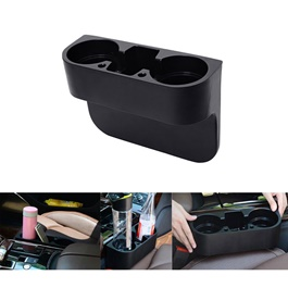 Seat Gap Filler with Cup Drink Holder - Each | Car Seat Gap Catcher Filler Storage Box Pocket Organizer Holder | Multifunctional Car Seat Side Pocket Storage Box Car Seat Filler Gap Organizer Car Organizer | Car Seat Storage Box Gap Slit Filler Holder-SehgalMotors.Pk
