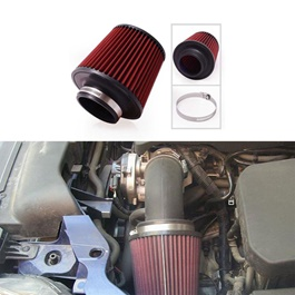 K&N Universal Air Intake Filter - Red
