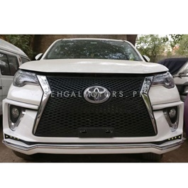 Toyota Fortuner Body Kit / Bodykit Lexus Style 2 Pcs White - Model 2016-2019-SehgalMotors.Pk