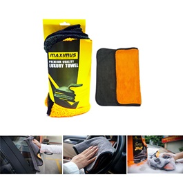 Maximus Premium Luxury Towel Orange And Grey-SehgalMotors.Pk