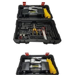Maximus 2 Cylinder Heavy Duty Air Compressor Tool Kit Black-SehgalMotors.Pk