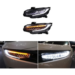 Honda Civic Sequential Headlights Pair- Model 2016-2019-SehgalMotors.Pk