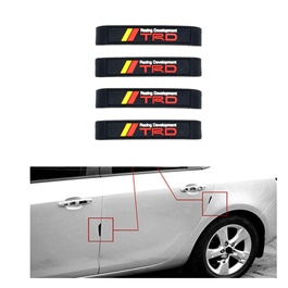 TRD Door Guards Black Red