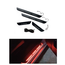 Honda Civic Sill Plates with LED Bar Red - Model 2016-2017-SehgalMotors.Pk