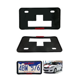 License Number Plate Frame with Reflector - Pair  | Number plate Holder | Car License Plate Frame | Iicense Plate Holder Frame-SehgalMotors.Pk